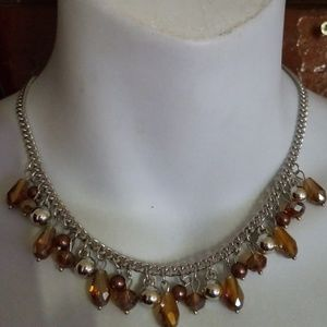 Jewelry - Beautiful brown and silver beaded necklace